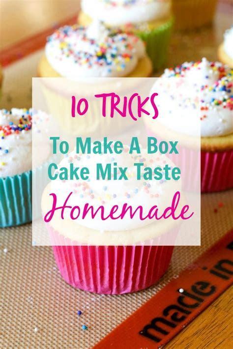 10 Tricks To Make A Box Cake Mix Taste Homemade  All