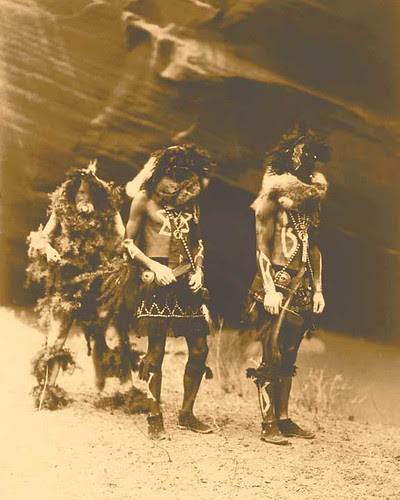 1904 - Yebichai War Gods - Edward S. Curtis - Photogravure - Past Present Gallery