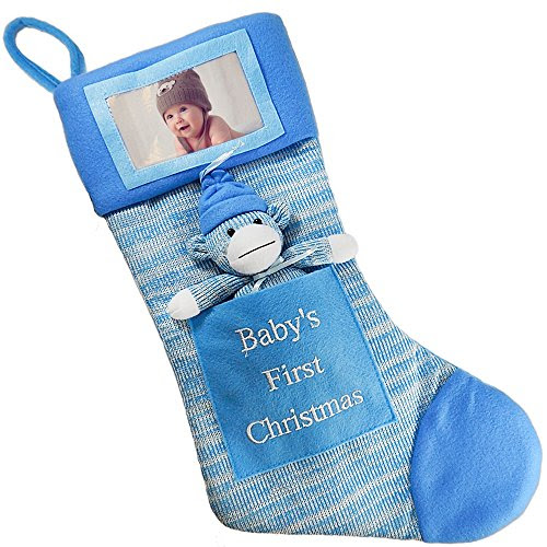 Baby First Christmas Stocking Decore Declare