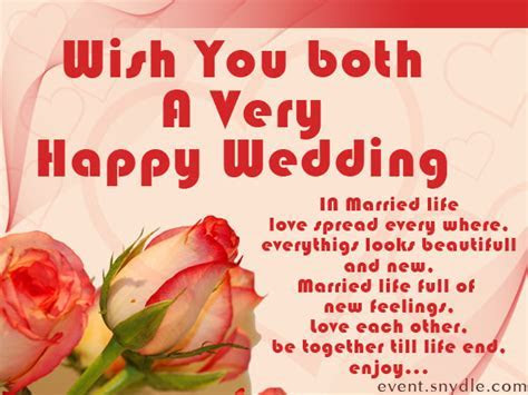 Wish You Both A Very Happy Wedding