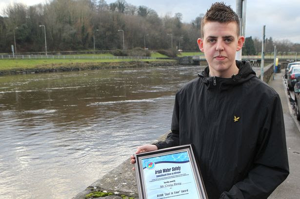 Craig Reay who rescued a woman from drowning in the river Boyne at Wellinton Quay in Drogheda.