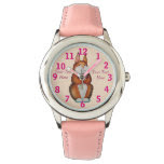 cute brown Bunny with pretty flowers illustration Watch
