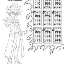 Dibujos Para Colorear Tablas De Multiplicar Beyblade Eshellokidscom