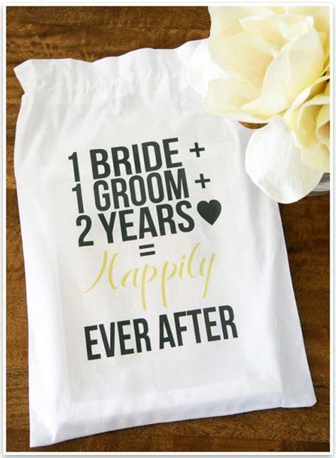 DIY 2nd Wedding Anniversary Cotton Gift Bag   Wedding