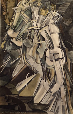 Nude Descending a Staircase (No.2)/Nu descendant un Escalier. No.2. 1912,  Marcel Duchamp