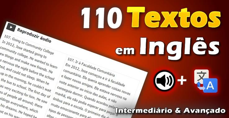 110 Textos Em Inglês Intermediário E Avançado Com áudio E Tradução