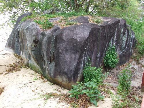 A Huge Rock from Tioman