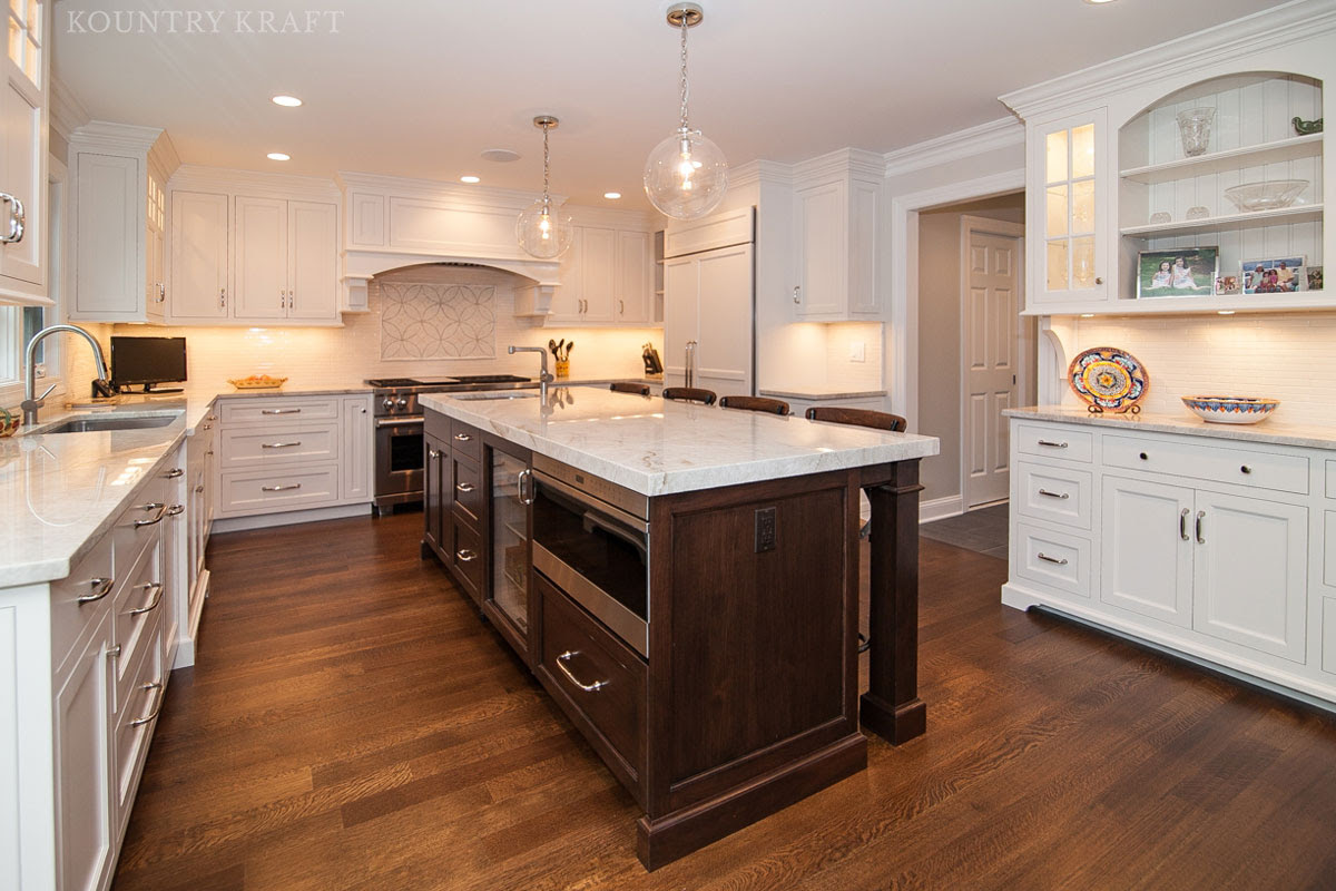 Custom Painted White Dove Cabinets in Madison, New Jersey