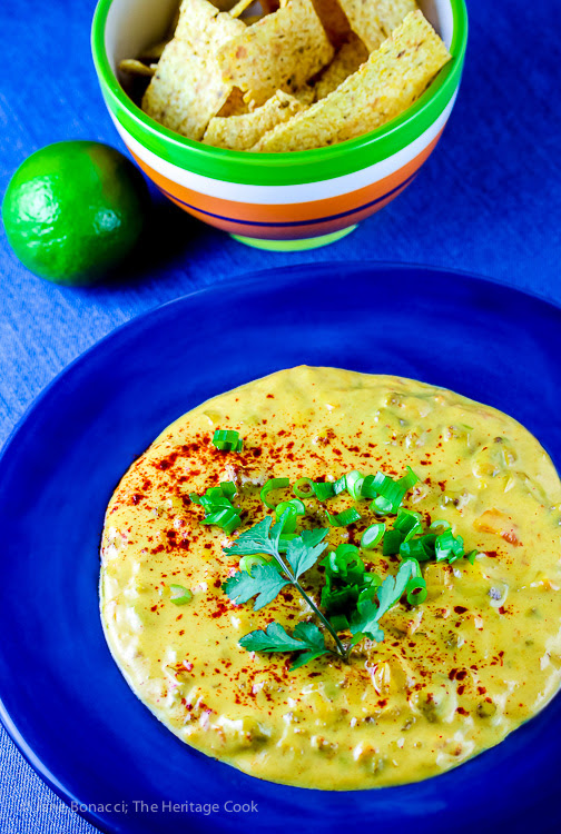 Spicy Chorizo Queso Dip GlutenFree • The Heritage Cook