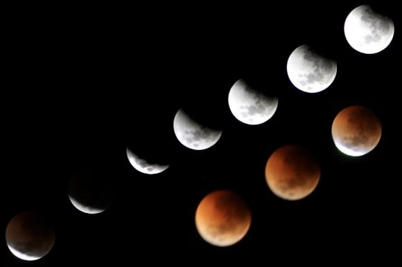 Astrophoto: Lunar Eclipse Collage by Lara O'Brien