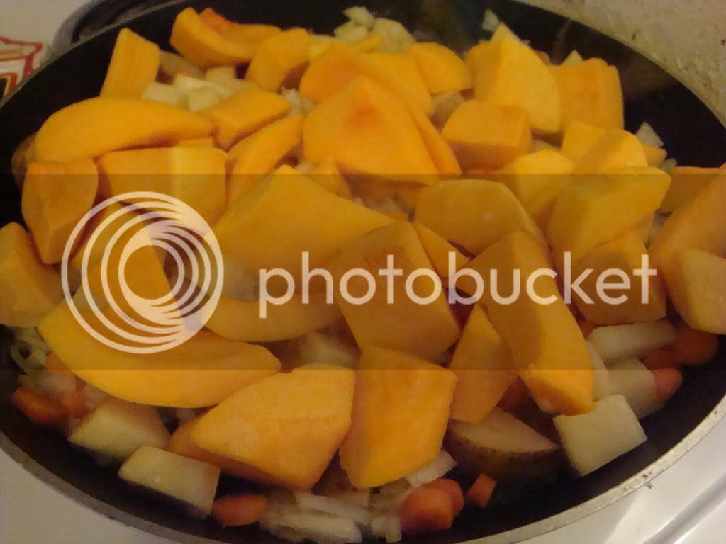 Veggies in frying pan