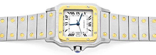 Foto 1, Cartier Santos Stahl-Gold Automatik Herrenuhr Neuwertig, U2080