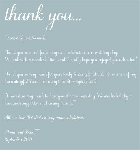 The Art of 'Thank You' ~ Thoughts On The Post Wedding