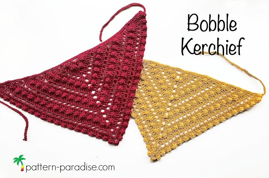 Free Crochet Pattern for Bobble Kerchief on Pattern-Paradise.com