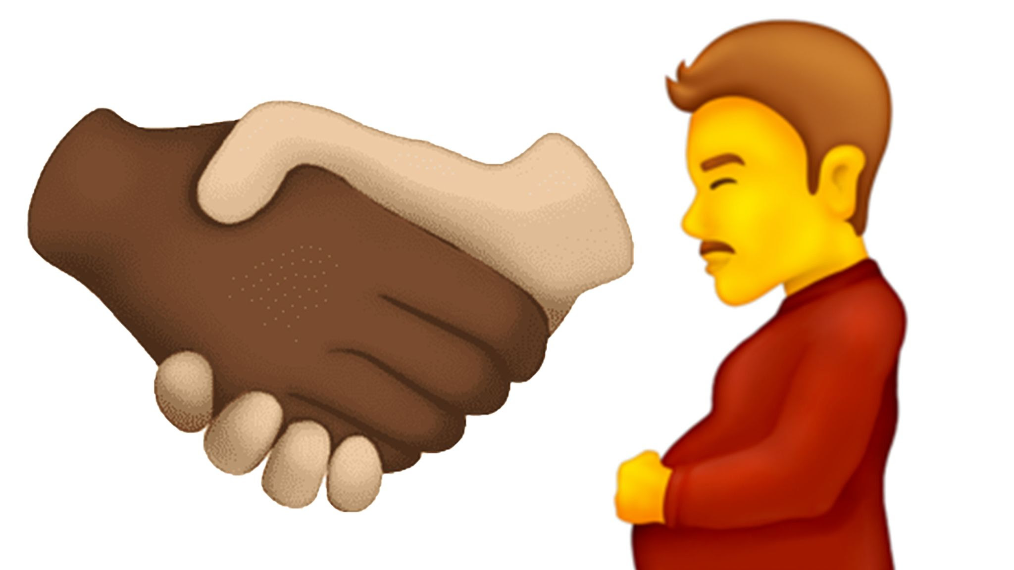 Pregnant man and multiracial handshake among 37 new emojis - what else is on the way?