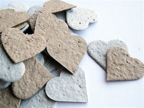 Plantable Seed Paper Hearts   200 Count   Recycled Grocery