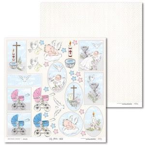 Papier 30 x 30 cm - Lily Flower - Extra - E02 - Laserowe LOVE