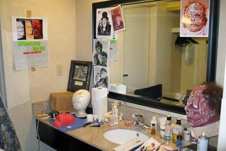 Ron's make-up studio at