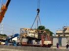 AO VIVO: passarela e veículos são retirados (Alba Valéria Mendonça / G1)