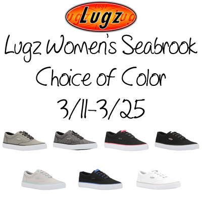 Enter the Lugz Women's Seabrook Shoes Giveaway. Ends 3/25