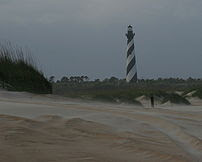 Cape Hatteras Lighthouse from beach (Buxton, O...