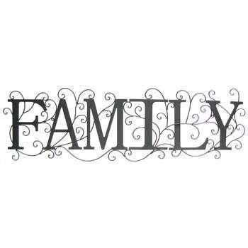 Black Family Metal Wall Decor   Hobby Lobby   329466