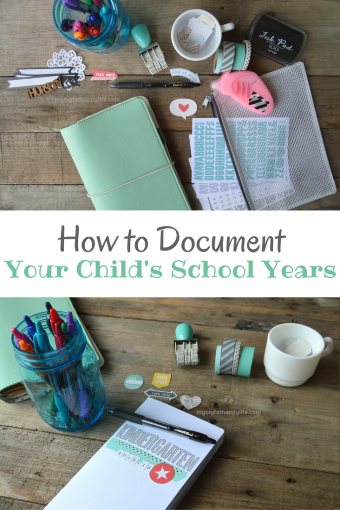 How to Document Your Child's School Years - My Big Fat Happy Life - HMLP 100 - Feature