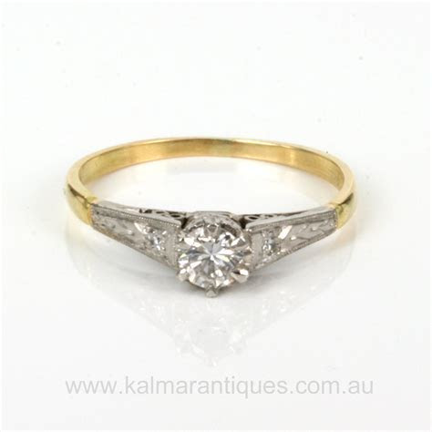 Buy 1930's Art Deco diamond engagement ring Sold Items