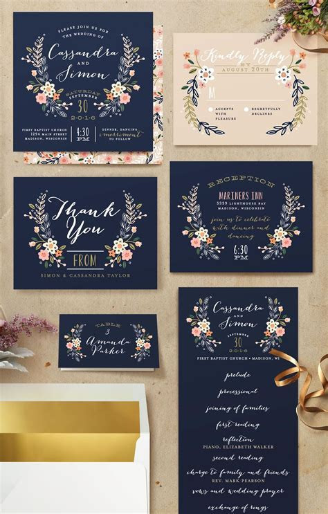 Add whimsy to your wedding with these blue Wedding Crest