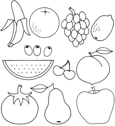 fruit coloring pages kidsuki