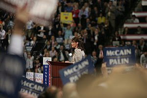 w:Sarah Palin addressing the w:2008 Republican...