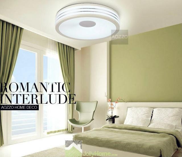 LED Bedroom White Round Ceiling Lights - Modern - other ...