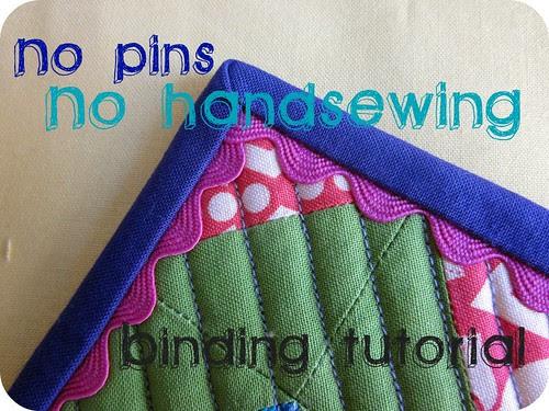 No pins, no handsewing, binding tutorial