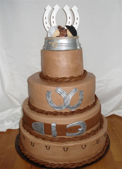 Ideas of the Western Themed Wedding Cakes   WeddingElation