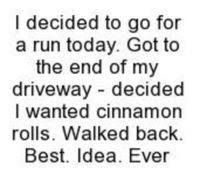 My kinda run