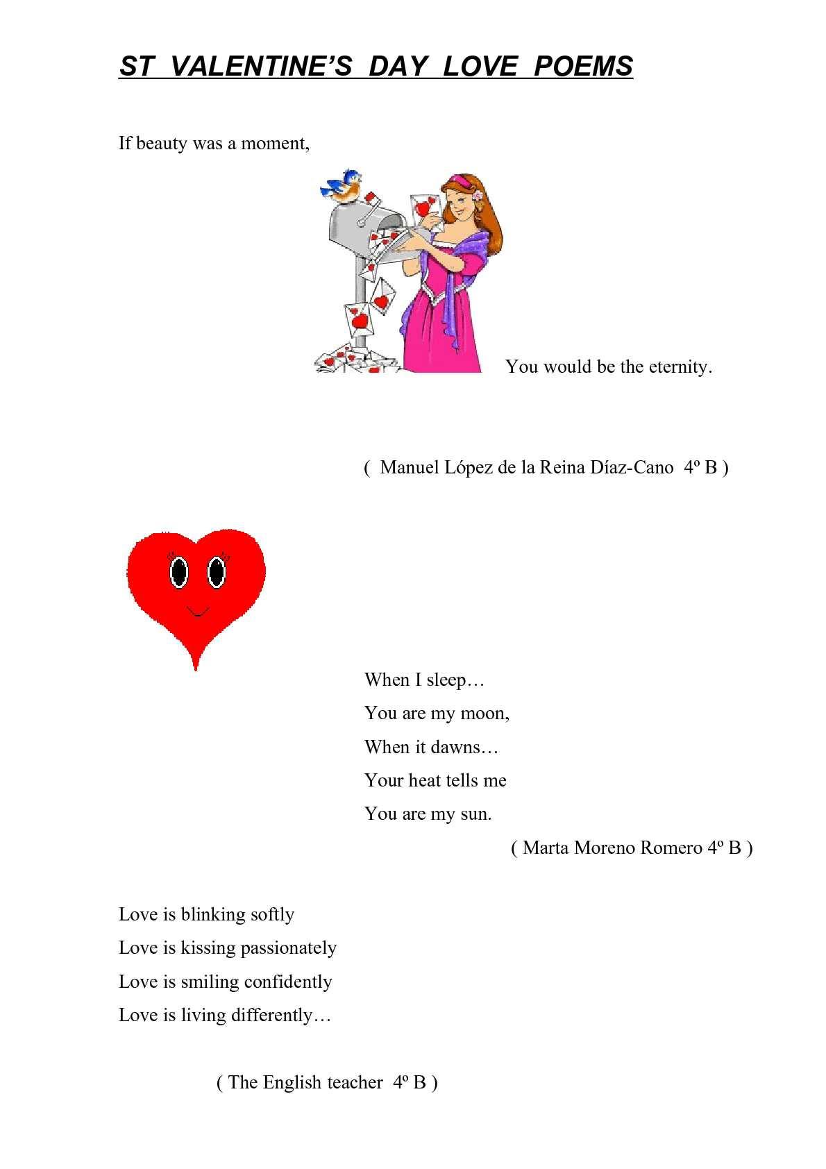 Calaméo St Valentine Poems