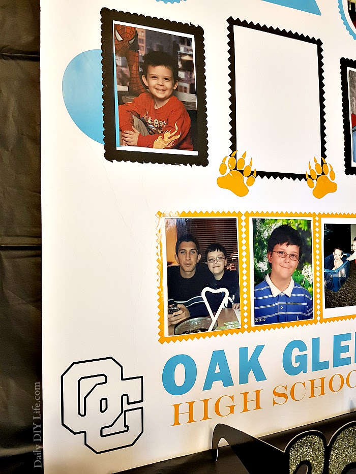 High School Graduation Poster Collage Using Your Cricut