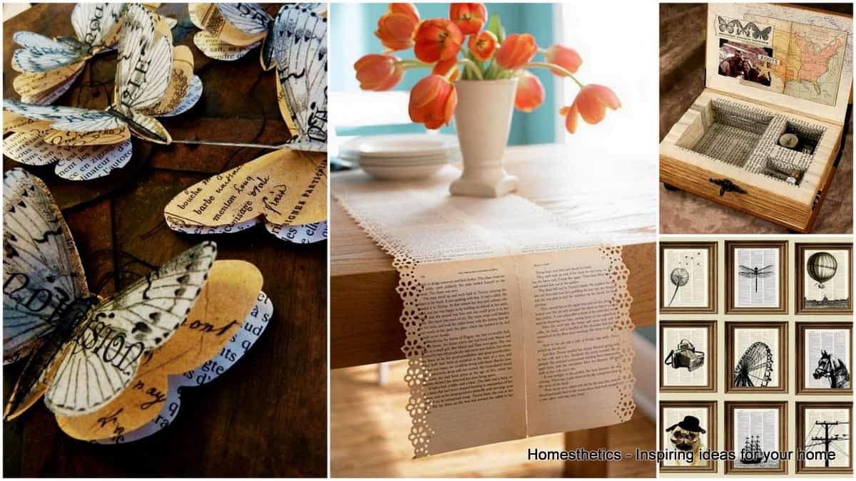 30+ DIY Projects Made With Old Books