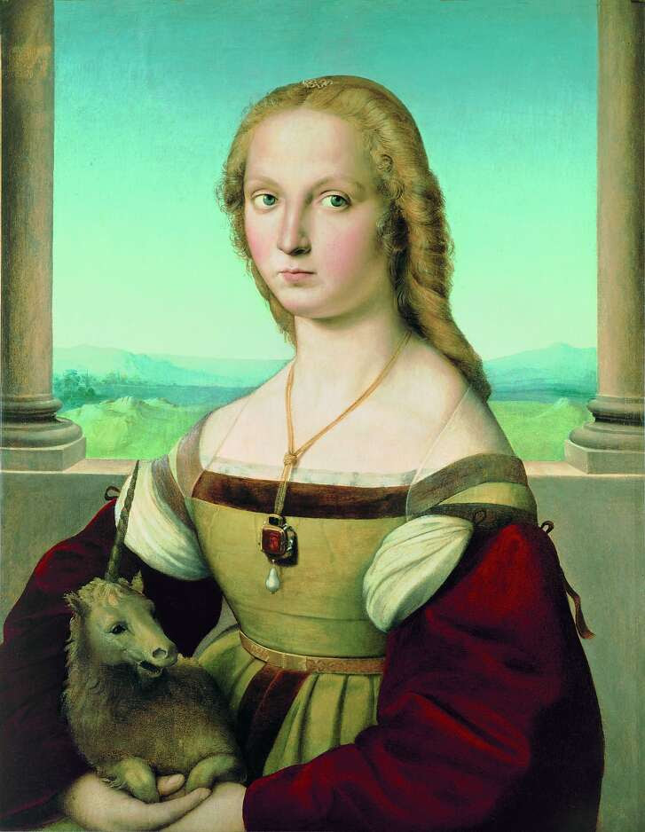 "Raphael's ""Portrait of a Lady with a Unicorn"" (ca. 1505–1506) is the subject of the exhibition ""Sublime Beauty"" at the Legion of Honor Jan. 9-April 10."