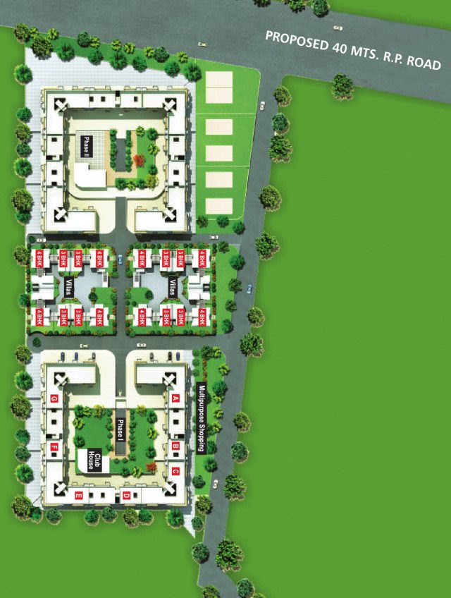 Proposed 40 Meter Urse - Lonawala Road on the layout plan of Alfa Green Fields, near Tata La Montana, at Vadgaon Maval, on Old Mumbai Pune Highway (NH4)