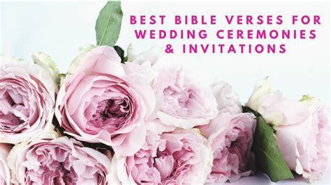 Best Bible Verses For Wedding Ceremonies & Wedding