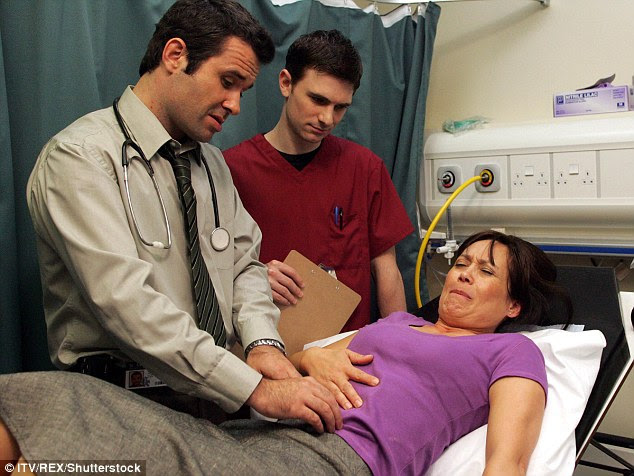 Leah, has starred on television for 30 years, is pictured here playing Matron Jenny Carrington in ITV's The Royal Today