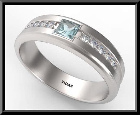 Mens Diamond Wedding Band White Gold   Vidar Jewelry