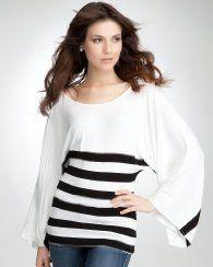 Bebe Kimono Sleeve Stripe Top
