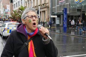 Crea Land, a co-organiser of the march in Auckland, on Sunday. Photo / Jason Garman