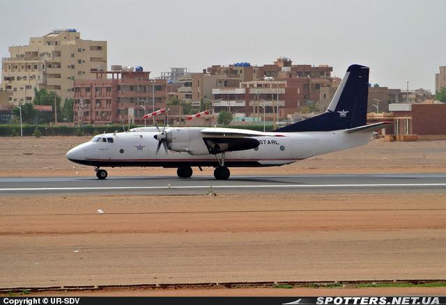 Alfa Air Sudan An26 Antonov in Khartoum