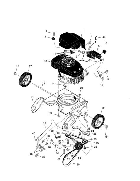 Mtd Snowblower Engine Parts Diagram - Engine Diagram And