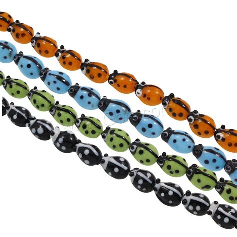 animal lampwork beads ladybug handmade getscom