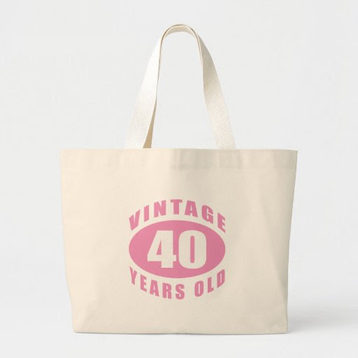 40th Birthday Gifts For Her Canvas Bag