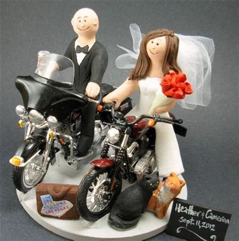 motorcycle themed wedding cake toppers #WRN http://bit.ly